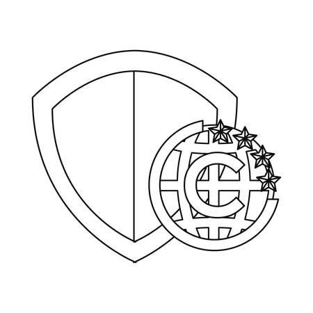 shield protection property copyright of intellectual vector illustration Illusztráció