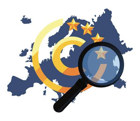 european union analysis copyright of intellectual vector illustration Vector Illustration