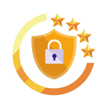shield protection security digital copyright of intellectual vector illustration