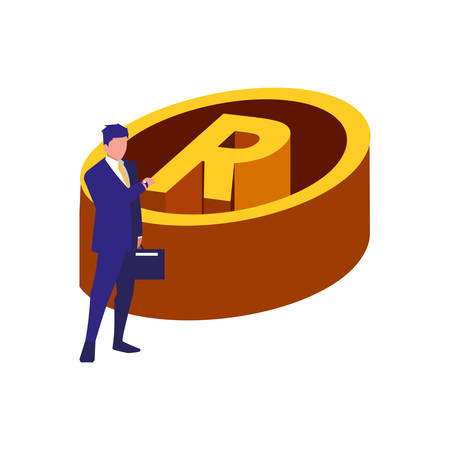 authorship man registered copyright vector illustration