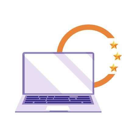 laptop digital copyright of intellectual vector illustration