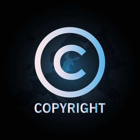 copyright of property intellectual sign vector illustration