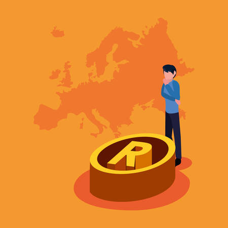 business man european union copyright vector illustration Illustration