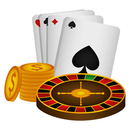 poker cards casino icons vector illustration design Ilustrace