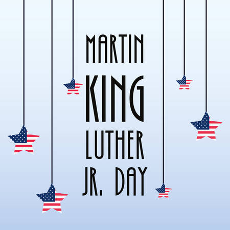 american flag poster celebration martin luther king jr vector illustration