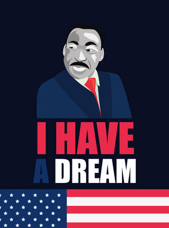 martin luther king jr portrait vector illustration