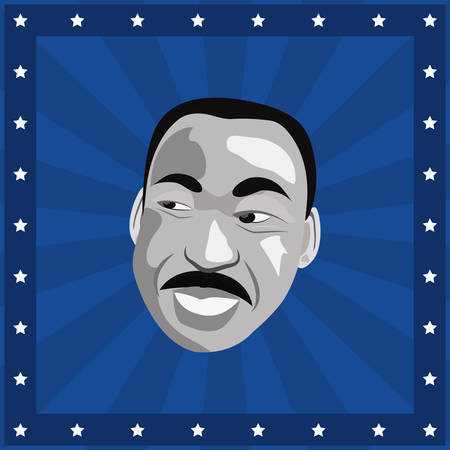 martin luther king portrait american character vector illustration