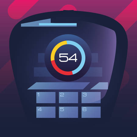 autonomous smart car board tachometer digital vector illustration