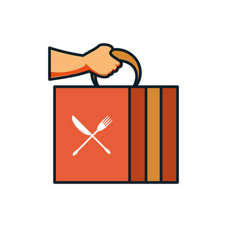 delivery food box icon vector illustration design