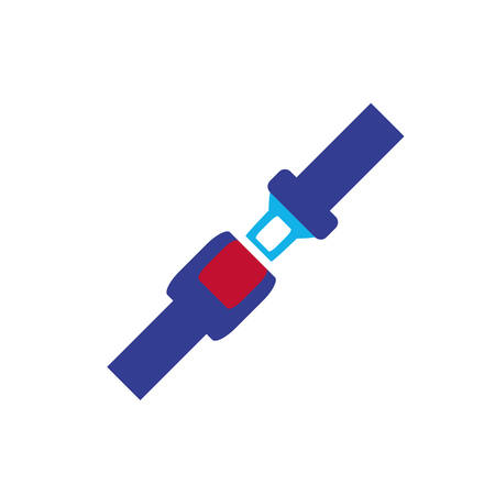 seat belt isolated icon vector illustration design
