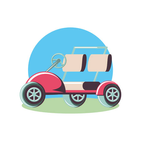 golf car isolated icon vector illustration design