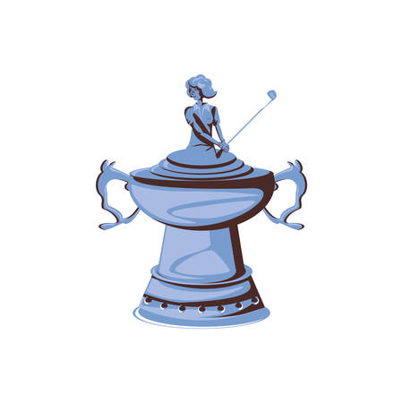 trophy of golf isolated icon vector illustration design