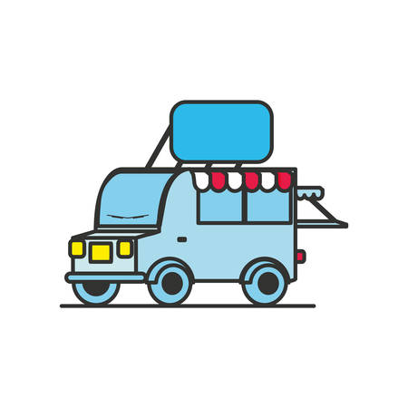 delivery car isolated icon vector illustration design