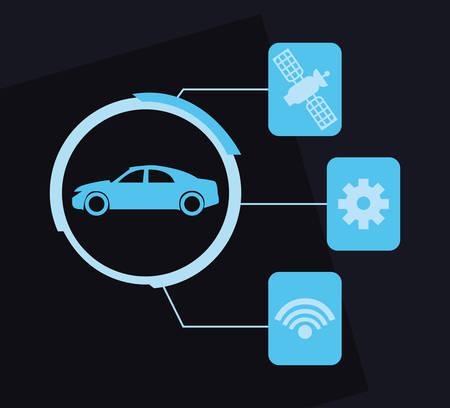 Autonomous smart car internet satellite and setting