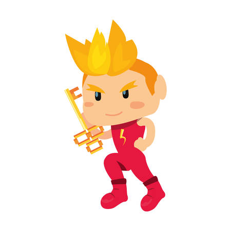 Bad boy holding key video game