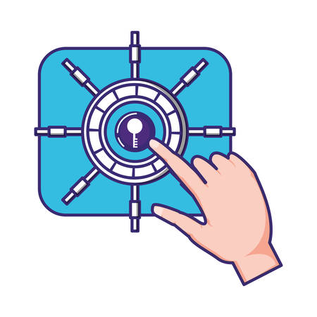 safe box security icon vector illustration design