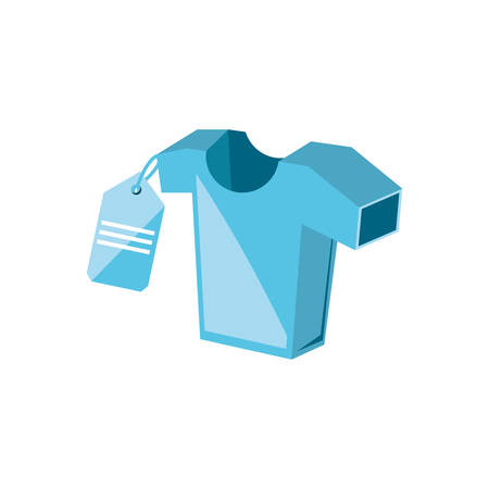 shirt man with tag commercial vector illustration design