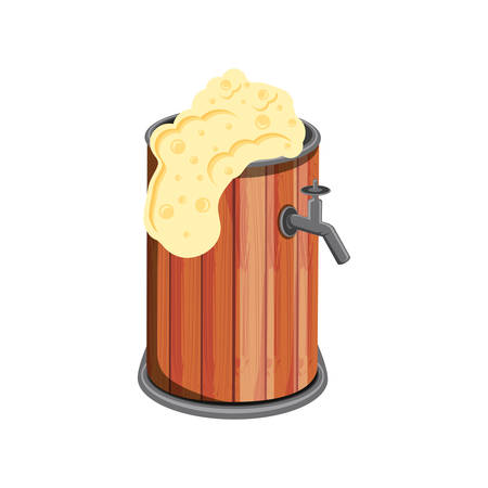 barrel wooden beer isolated icon vector illustration design Ilustrace