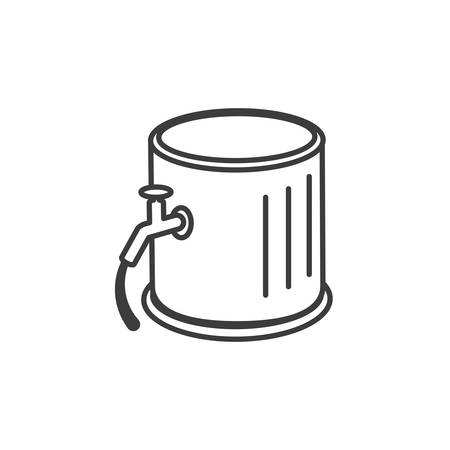 barrel beer isolated icon vector illustration design Ilustrace