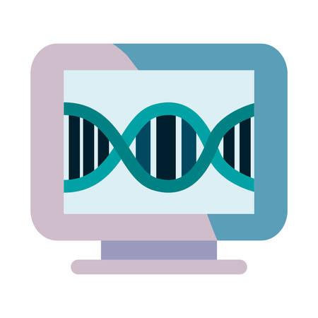 computer gadget dna science molecule vector illustration