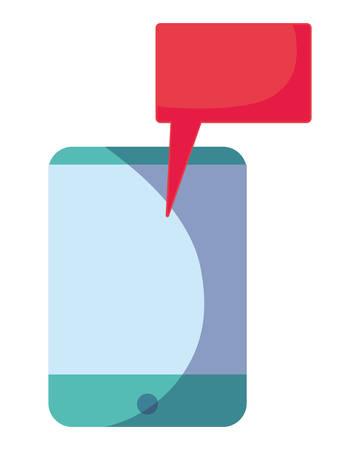 smartphone speech bubble on white background vector illustration Illustration