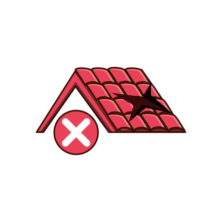 roof broken isolated icon vector illustration design