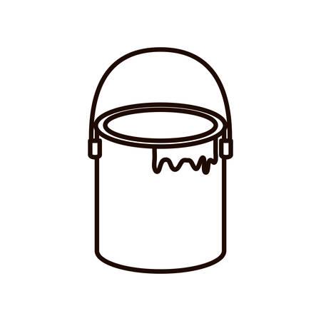 Pot de peinture vecteur icône isolé illustration design