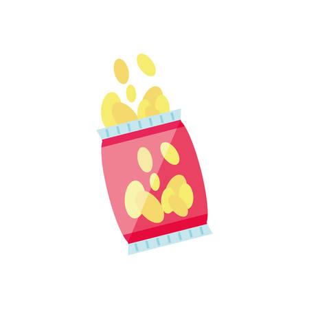 potato chip isolated icon vector illustration design Archivio Fotografico - 125163953