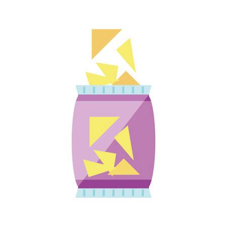 snack chips isolated icon vector illustration design Archivio Fotografico - 125163954
