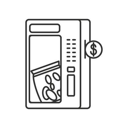 vending machine of potato chips vector illustration design