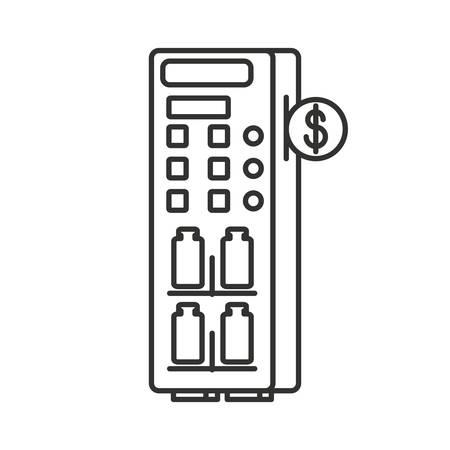 vending machine of bottled drinks isolated icon vector illustration design Illustration