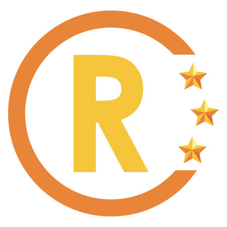 registered trademark copyright protection of intellectual vector illustration