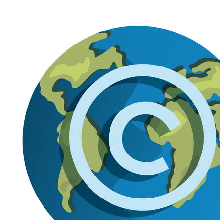 world copyright protection of intellectual vector illustration