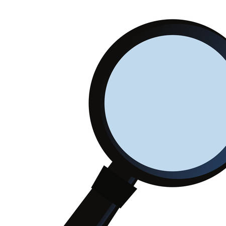 magnifying glass search on white background vector illustration
