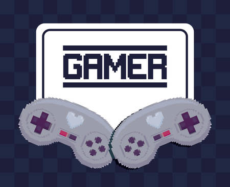 classic video game controls vector illustration design