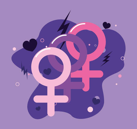 signals gender feminist girls power vector illustration