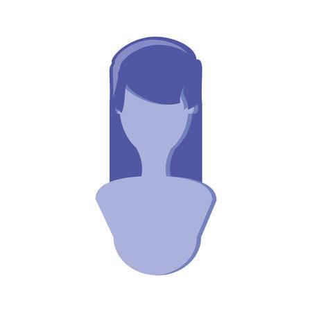 silhouette woman avatar character vector illustration design