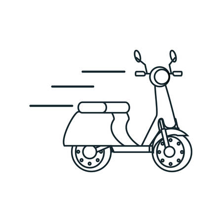delivery motorcycle scooter icon vector illustration design