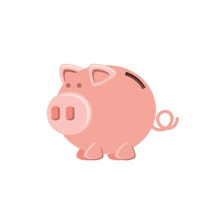 saving piggy isolated icon vector illustration design