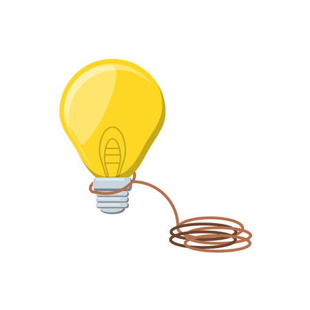 light bulb with rope isolated icon vector illustration design Illustration