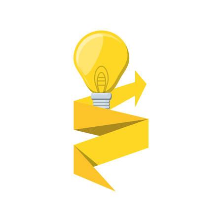 Glühbirne mit Pfeil nach oben isoliert Symbol Vektor Illustration Design