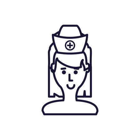 medical nurse avatar character vector illustration design