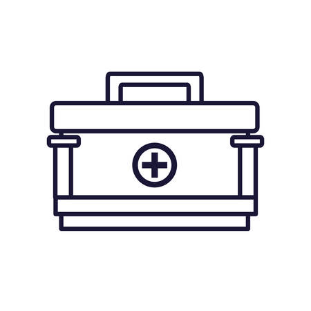 first aid kit isolated icon vector illustration design