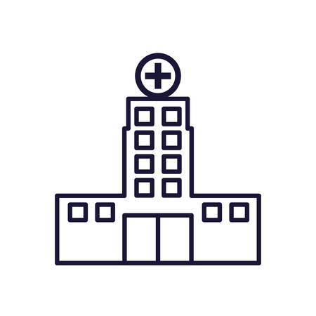 hospital structure isolated icon vector illustration design Illustration