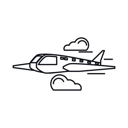 airplane travel isolated icon vector illustration design Ilustrace