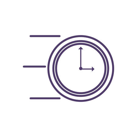 clock time isolated icon vector illustration design Stock Vector - 124924219