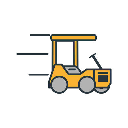 delivery service forklift icon vector illustration design
