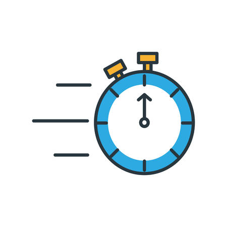 chronometer timer isolated icon vector illustration design Stock Vector - 124924233