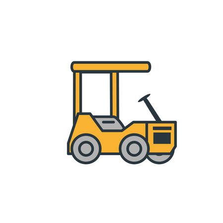 delivery service forklift icon vector illustration design