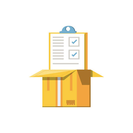 clipboard document with box isolated icon vector illustration design Illustration